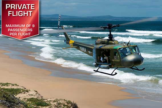 Watefront Helicopters | Adventure Flights | Huey Combat Lite Flight