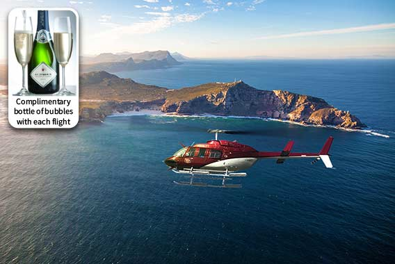 Waterfront helicopter tour Cape Point